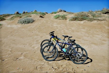 Bicicletas en la playa