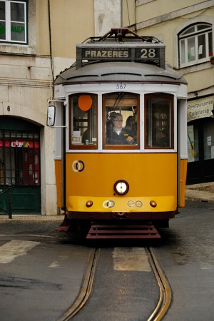 Típico tramvía de Lisboa. (diciembre 2009)