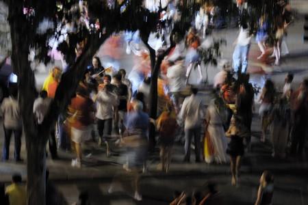 Celebración callejera II. Madrid, julio 2010