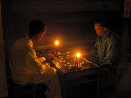 A la luz de las velas. Hoi An abril 2011