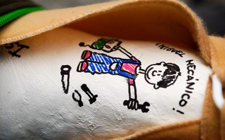Escayola brazo roto de Miguel. Octubre 2012
