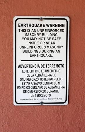 Advertencia de terremoto. Guadalupe, California, junio 2012