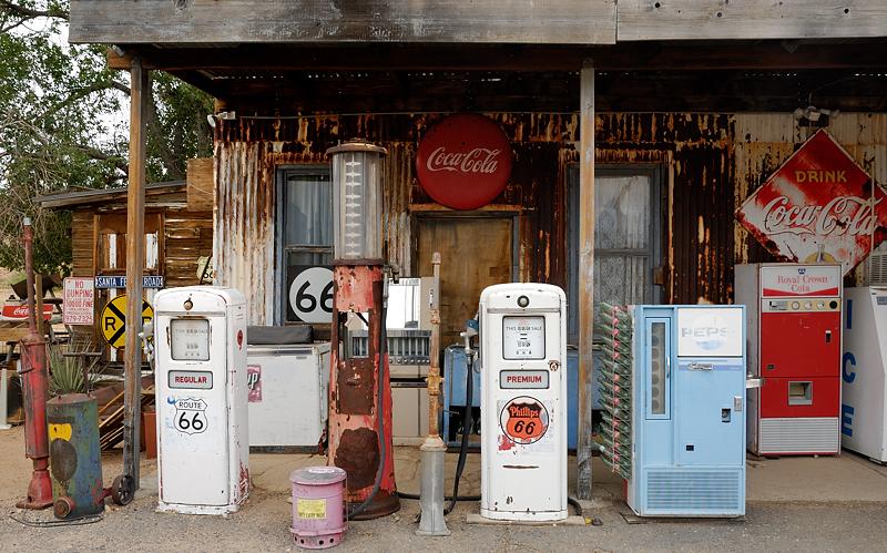 Vieja gasolinera, Arizona julio 2012