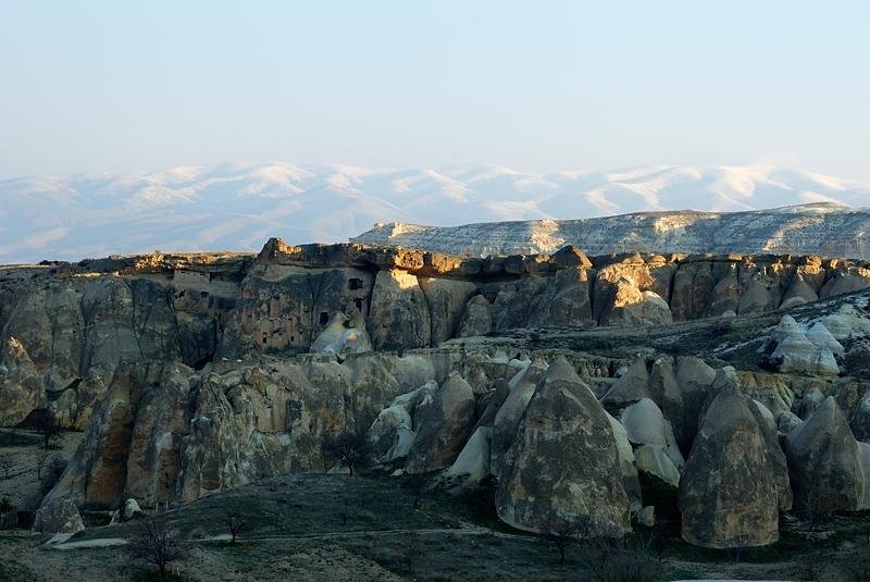 Paisaje de Capadocia desde el globo, marzo 2013