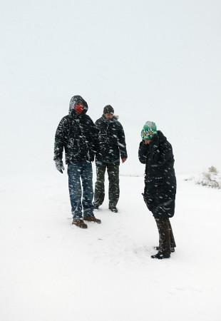 Familia en la nieve, Capadocia marzo 2013