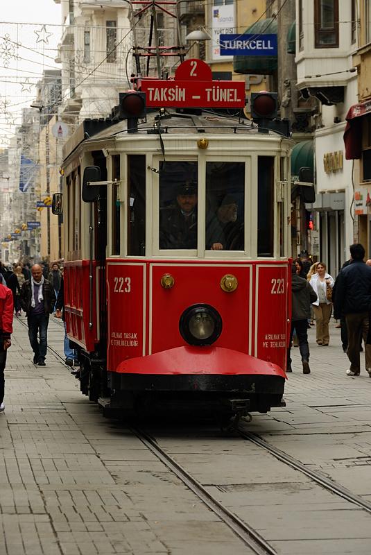 Tranvia a Taksim, Estambul marzo 2013