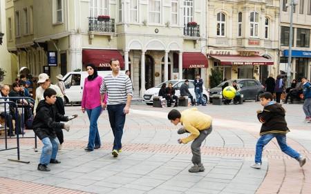 Escena callejera, Estambul marzo 2013