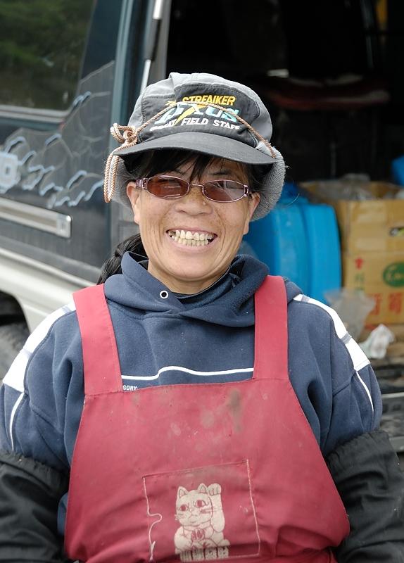 La vendedora de cadenas, Taiwan febrero 2014