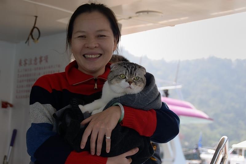 La señora del gato, Taiwan febrero 2014