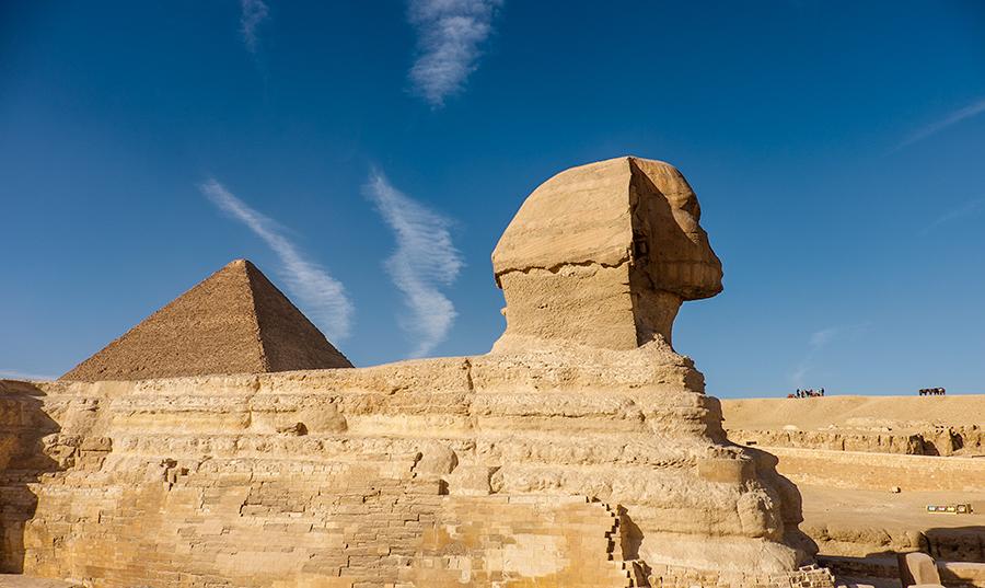 Pirámide y esfinge, El Cairo, enero 2015