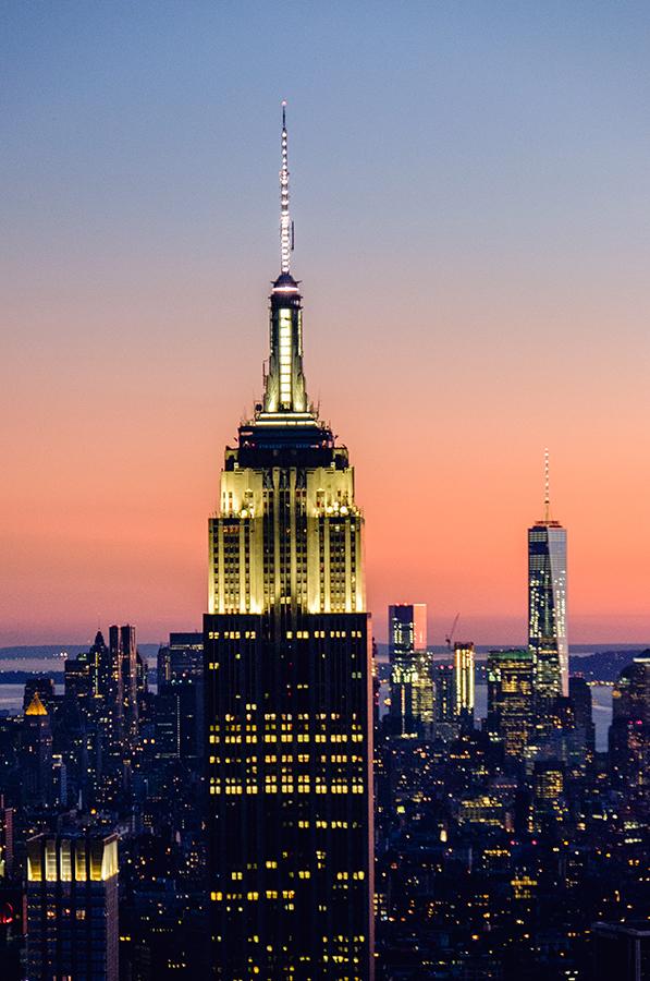 Empire State y One World, octubre 2015