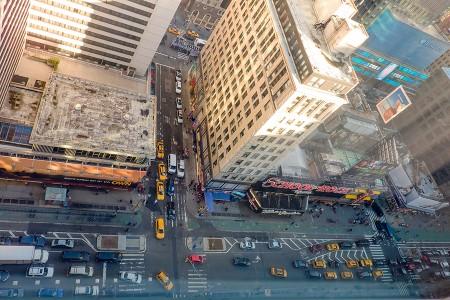 Broadway desde la ventana del hotel. NYC octubre 2015