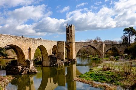 Besalú, puente medieval, marzo 2016
