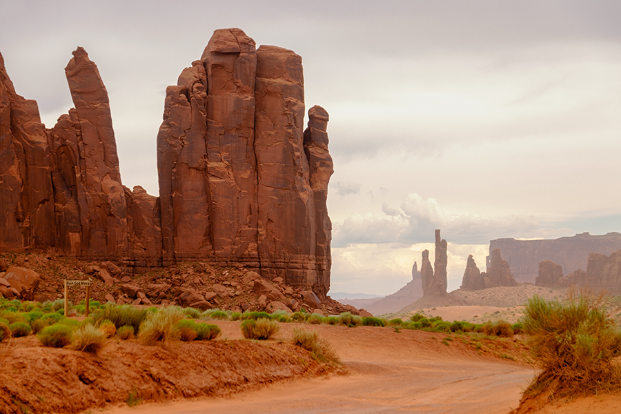 La mano, Monument Valley, junio 2016