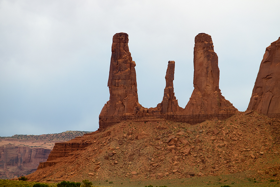 Las tres hermanas, Monument Valley, junio 2016