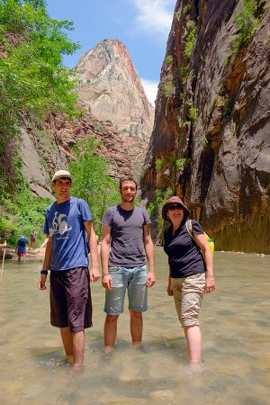 En The Narrows, Zion junio 2016