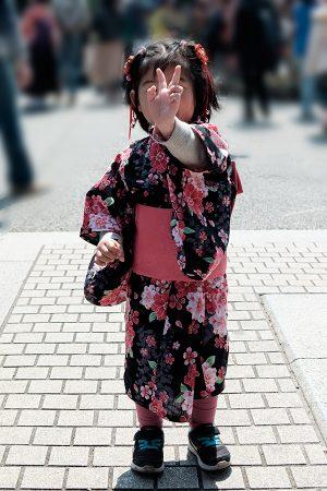 Niña en Asakusa, Tokio marzo 2017