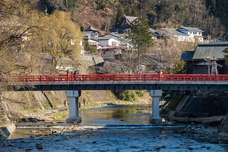 Puente Nakabashi, Takayama, abril 2017