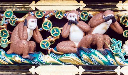 Tres monos, Toshogu Nikko 2017