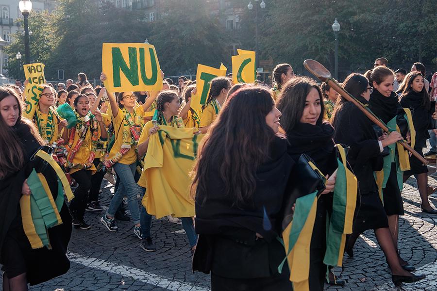 Fiesta de estudiantes, Oporto, octubre 2016