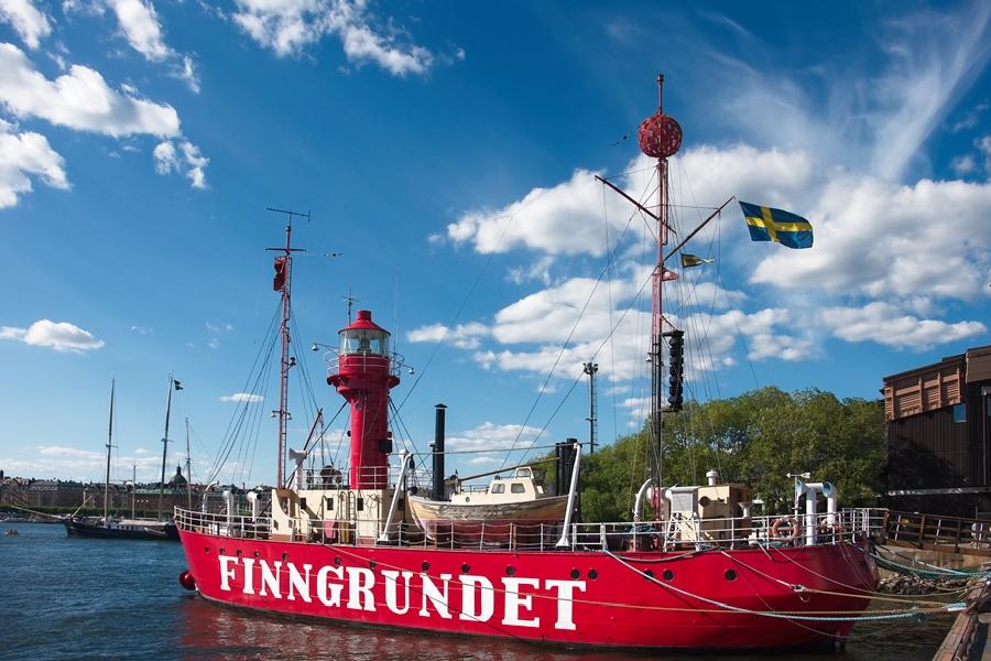 Barco faro, Estocolmo, julio 2018