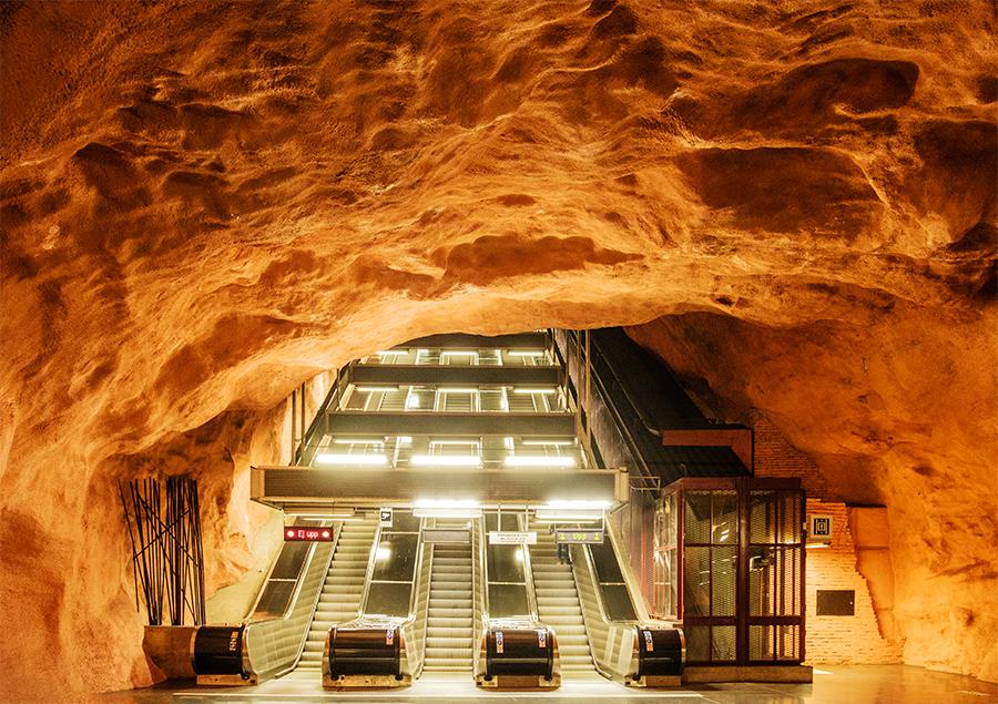 Metro, Estocolmo, julio 2018