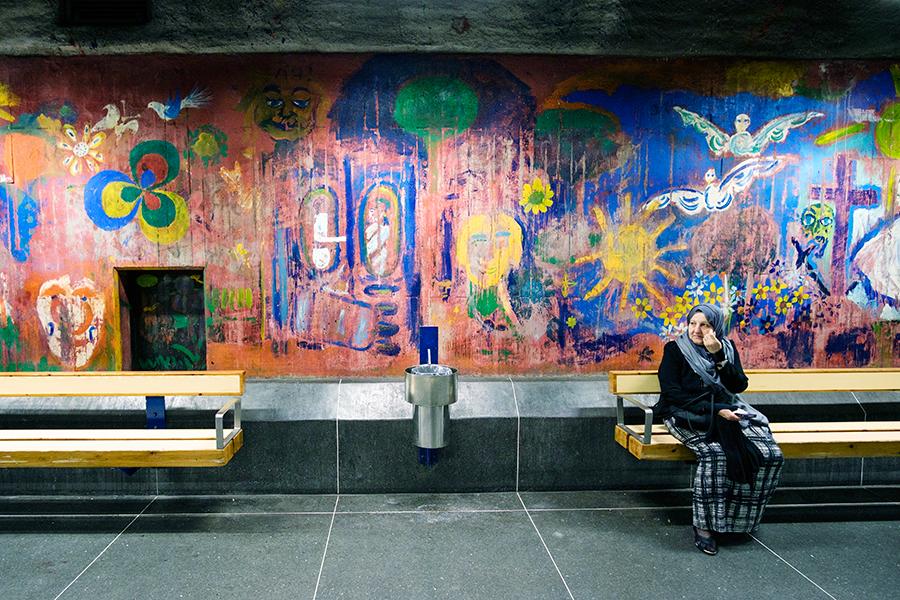 Metro Estocolmo, julio 2018