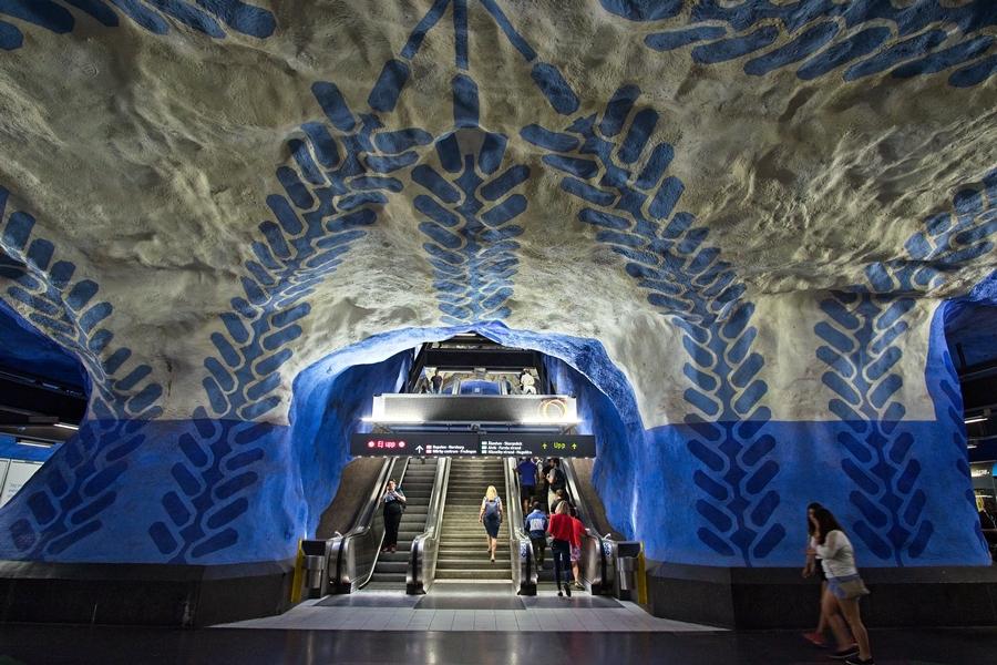 Metro, Estocolomo, julio 2018