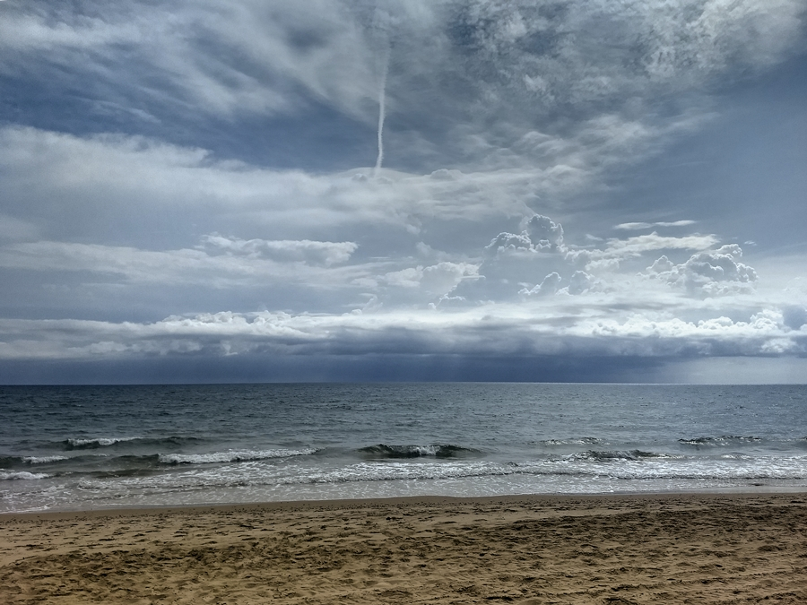 Tormenta en el mar, agosto 2018