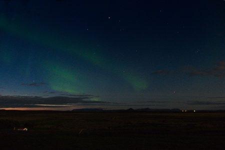 Aurora boreal?, Islandia agosto 2018