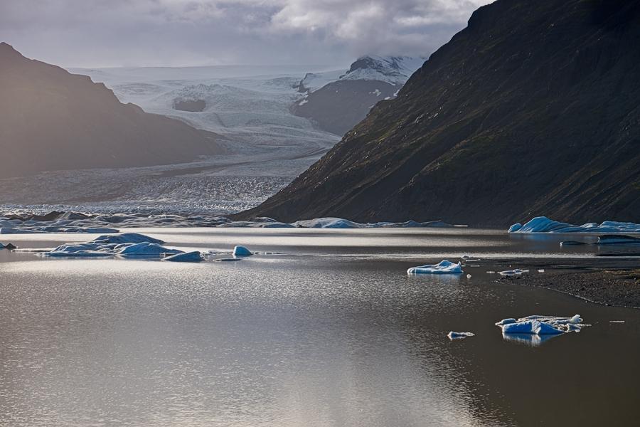 Heinabergsjökull. Islandia agosto 2018