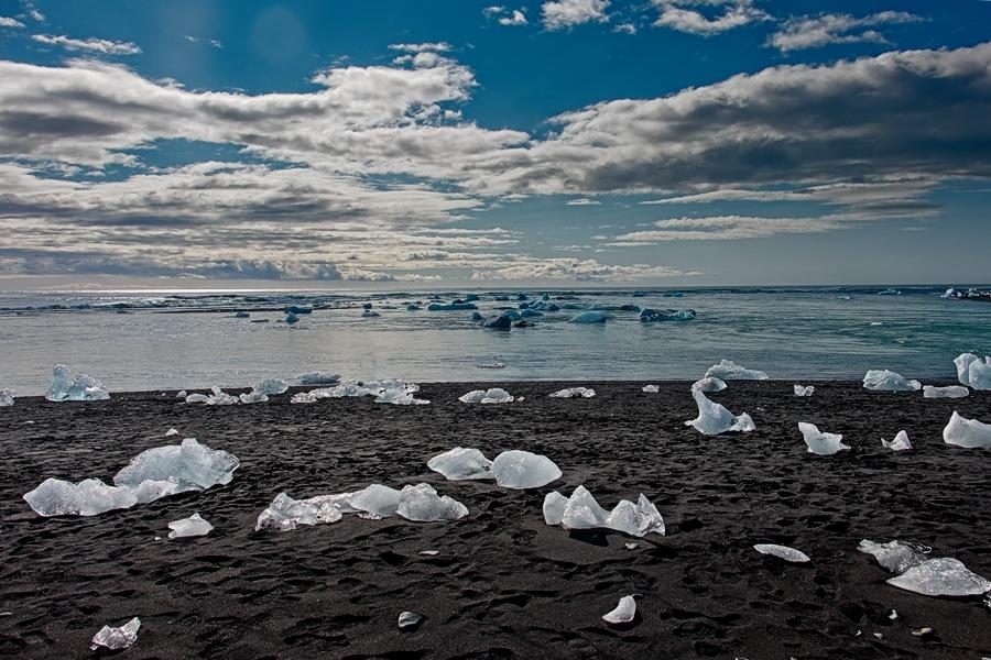 Playa de los diamantes, Islandia agosto 2018