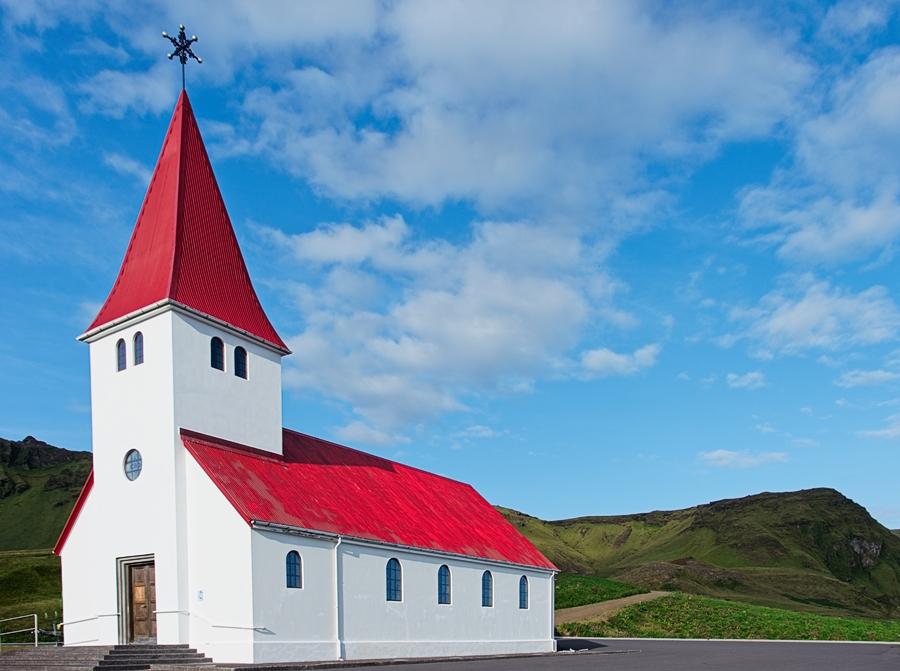 Iglesia de Vik, Islandia agosto 2018