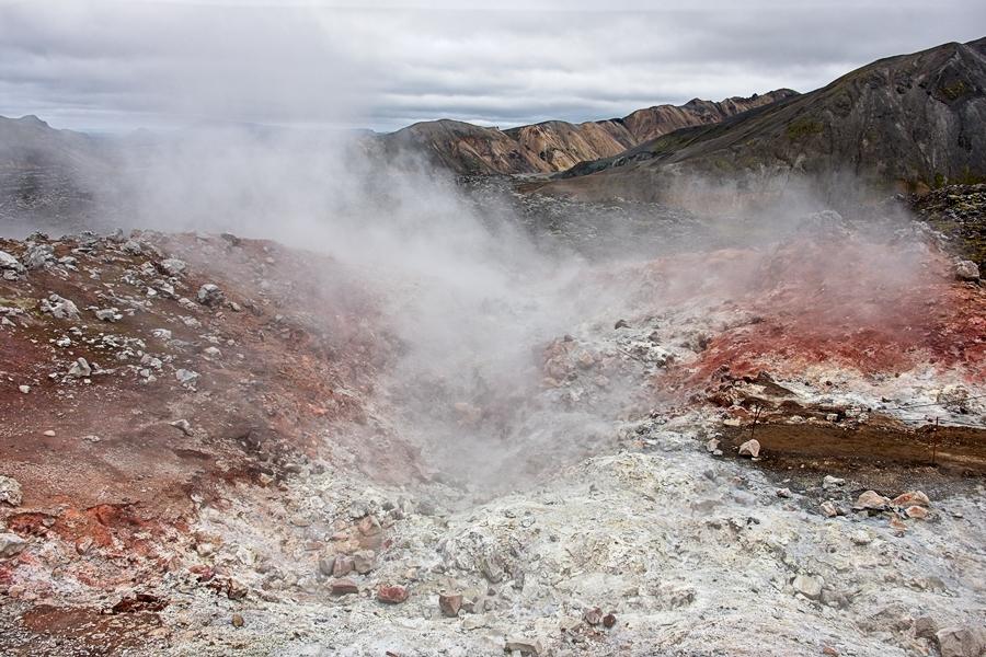 Geotermia Landmannalaugar. Islandia agosto 2018