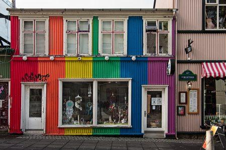 Casa, Reikiavik, Islandia, septiembre 2018