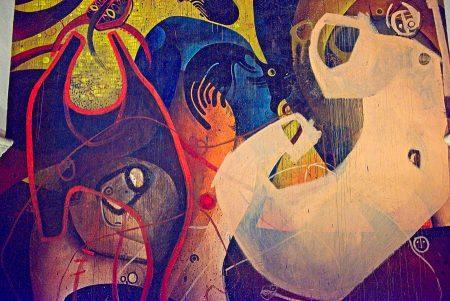 Pintura mural Jesús Mateo, Alarcón octubre de 2018
