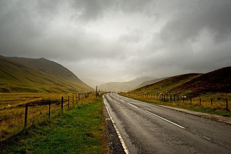 Cairngorms, Escocia, septiembre 2019