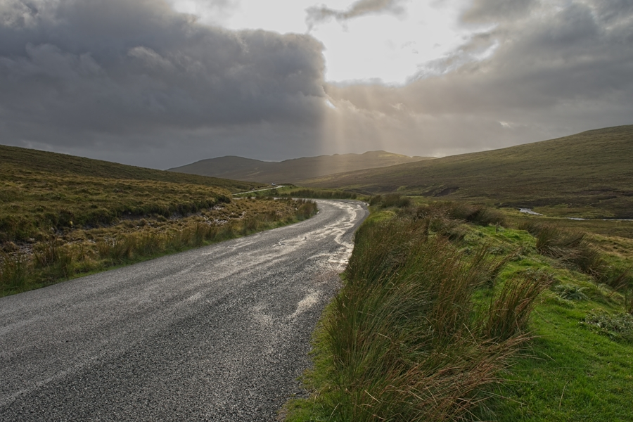 Carretera a Quiraing, Skye, septiembre 2019