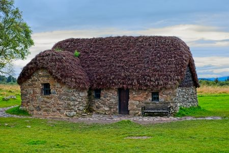 Leanach Cottage, Culloden Battlefield, septiembre 2019