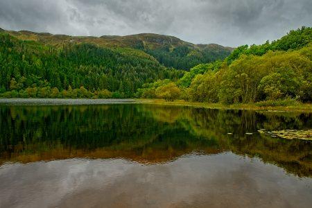 Loch Chon, Escocia, septiembre 2019