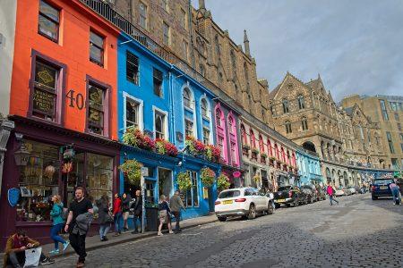 Victoria Street, Edimburgo, septiembre 2019