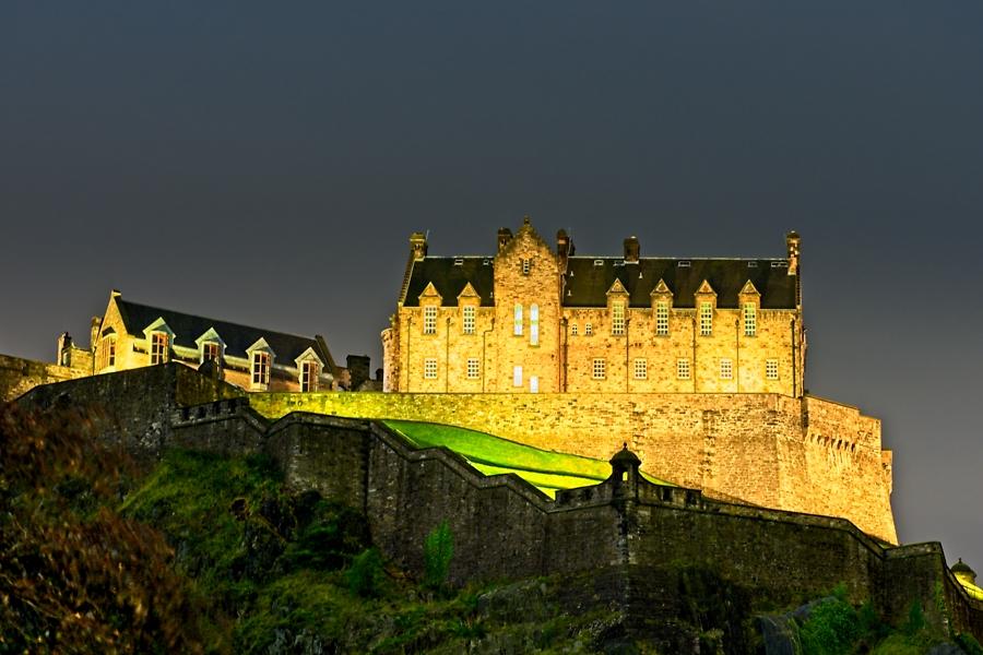 Castillo, Edimburgo, septiembre 2019
