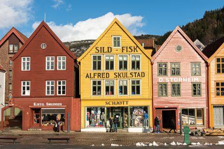 Bryggen, Bergen, febrero 2020