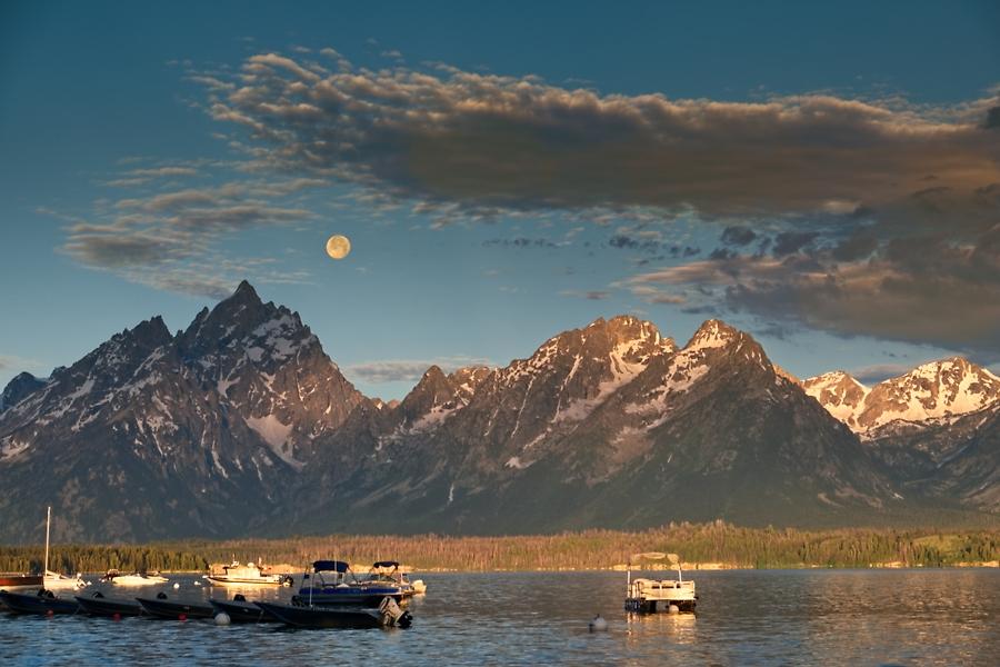 Amanece en las Teton, junio 2016