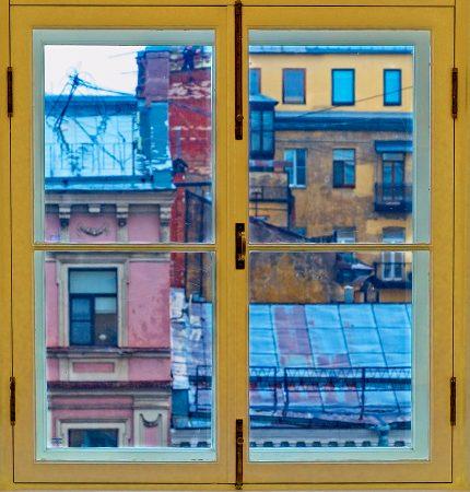 Una ventana de San Petersburgo, julio 2019