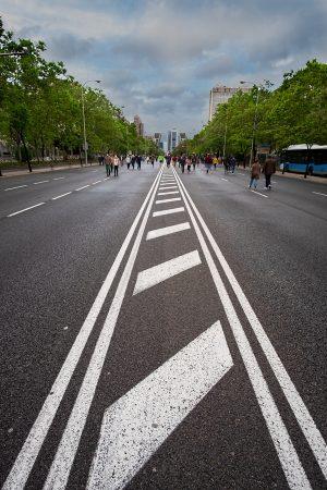 Paseo de la Castellana, mayo 2020