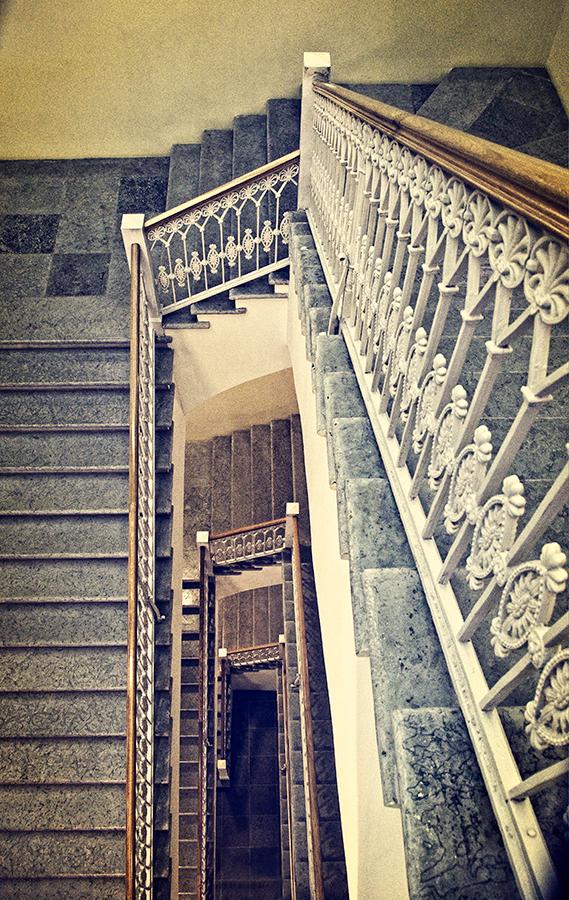 Escalera, San Petersburgo julio 2019