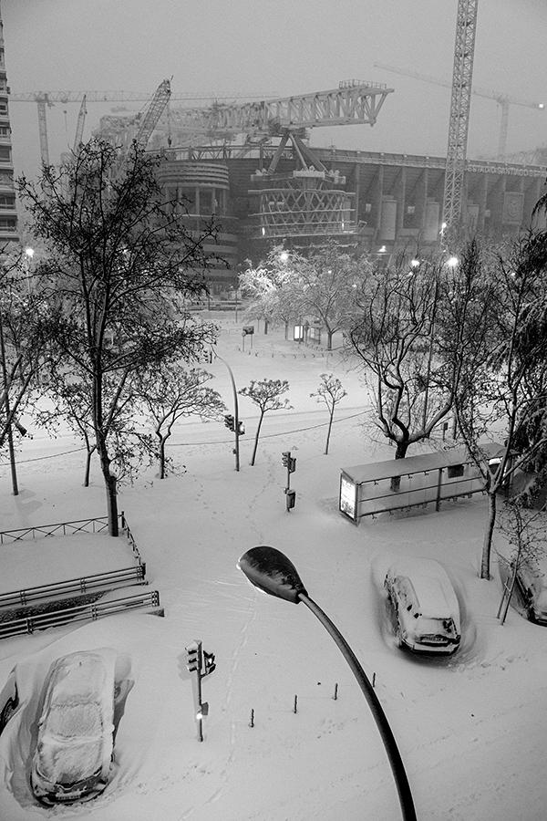 Filomena, Madrid 9 de enero de 2021