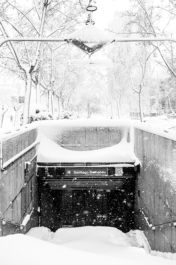 Avalancha para entrar en el metro, Madrid 9 de enero de 2021