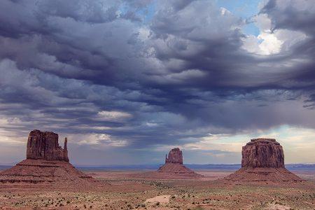 Nubes del oeste, Monument Valley junio 2016
